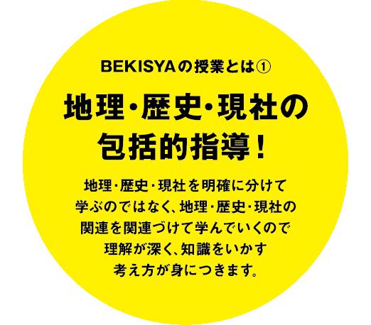 BEKISYAの授業とは① 地理・歴史・現社の包括的指導!